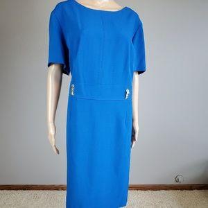 NWT Tahari Arthur Levine Royal Blue Dress